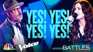 "Pete Mroz vs. Savanna Chestnut - John Hiatt's ""Have a Little Faith in Me"" - The Voice Battles 2021"