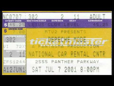 Depeche Mode -  National Car Rental Center, Fort Lauderdale (Sunrise), FL 2001/07/07