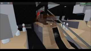 Getting into the bowling machine on ROBLOX!