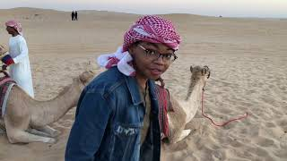 YBLA Ambassador Jaylon Alexander on the camel