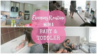 EVENING AND BEDTIME ROUTINE WITH 2 KIDS | BABY AND TODDLER | MRS SMITH & CO.