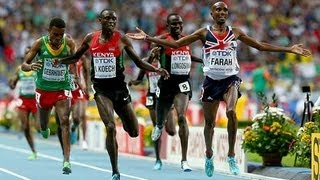 Mo Farah remains 5,000m Champion at Moscow 2013