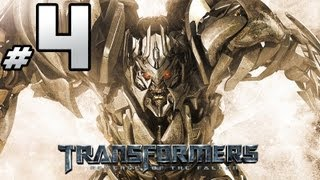 Transformers Revenge Of The Fallen - Decepticon Campaign - PART 4 - G1 Sunstorm Burning Everything!