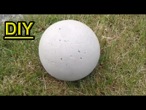 How To Make A Concrete Garden Sphere Out Of A Plastic Ball / DIY Garden  Decor Ideas   Tutorial