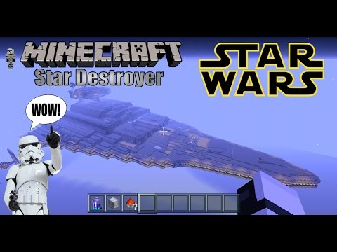 Minecraft PS4 Structures Star Wars Imperial Star Destroyer!!!