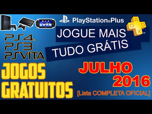PSN Plus Jogos Grátis Para Julho de 2016 [ Lista OFICIAL ]