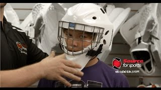 How To: Fitting a Hockey Goalie Mask For Your Child | Source For Sports