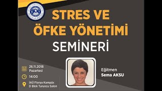 Stres Yönetimi ve Öfke Kontrolü