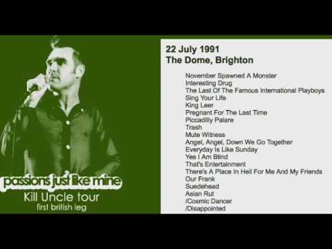 MORRISSEY - July 22, 1991 - Brighton, England, UK (Full Concert) LIVE
