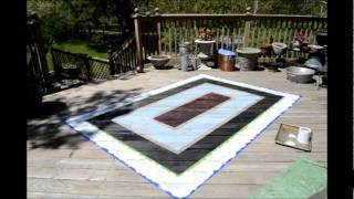 How to Hand Paint an Area Rug onto Your Deck