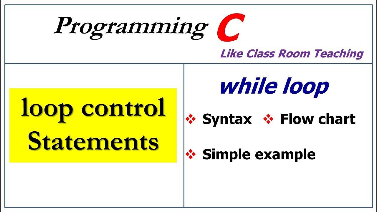while loop in c programming youtube