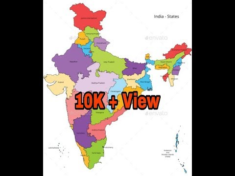 colour picture of indian map Indian Map And Make Color Youtube colour picture of indian map