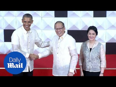 Pres. Obama dons shirt made from PINEAPPLES during APEC - Daily Mail