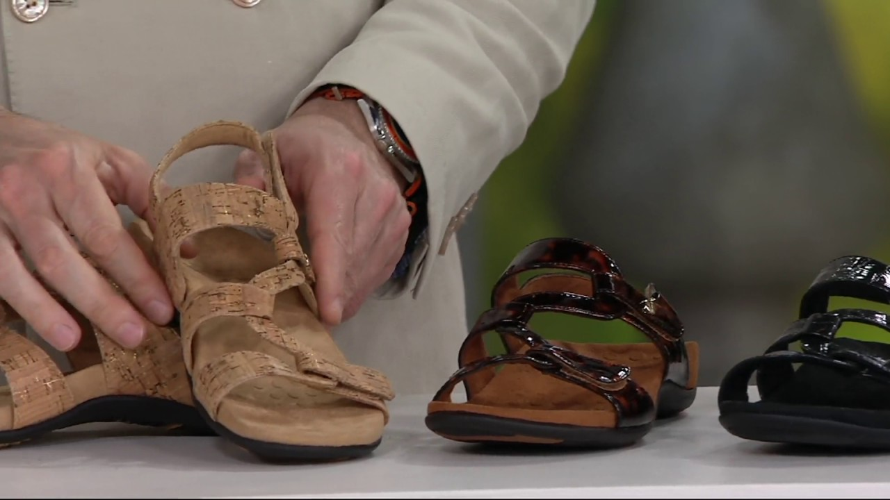 21c1fef562b6 Vionic Orthotic Sandals with Backstrap - Paros on QVC - YouTube