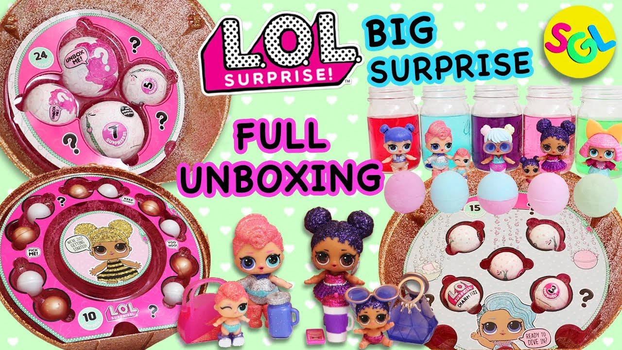 L.O.L Doll BIG SURPRISE Gold Ball 50-Surprises Limited Edition LOL Girls Gift