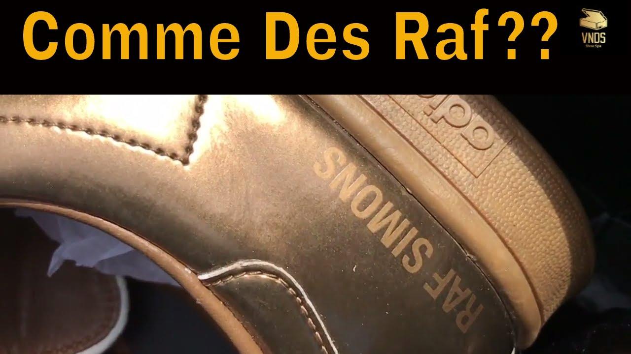 guadagno overrun Spezzare  CDG Play Converse vs Raf Simon Stan Smith - Classic With A Designer Twist -  YouTube