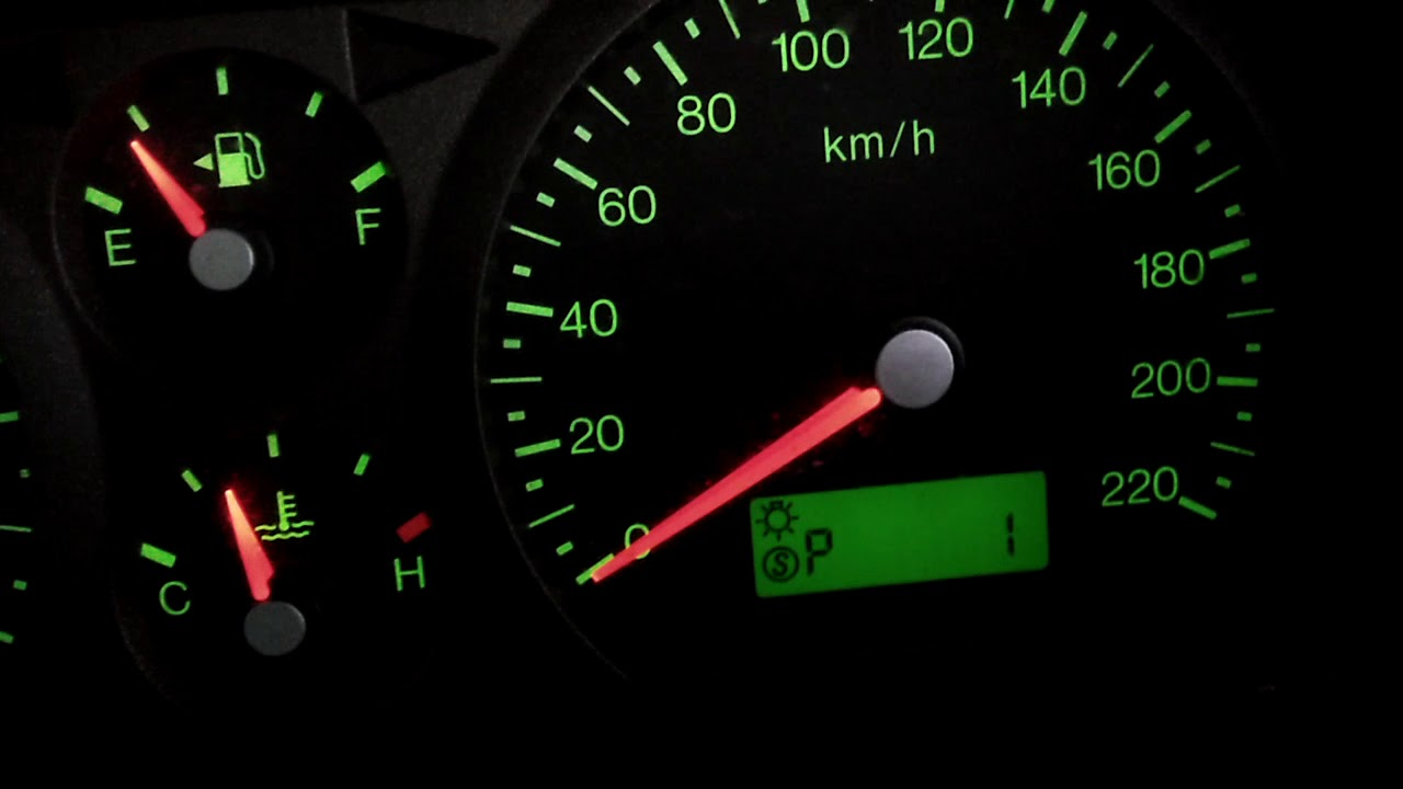 Ba Ford Falcon Police Mode Speedo Activated Youtube