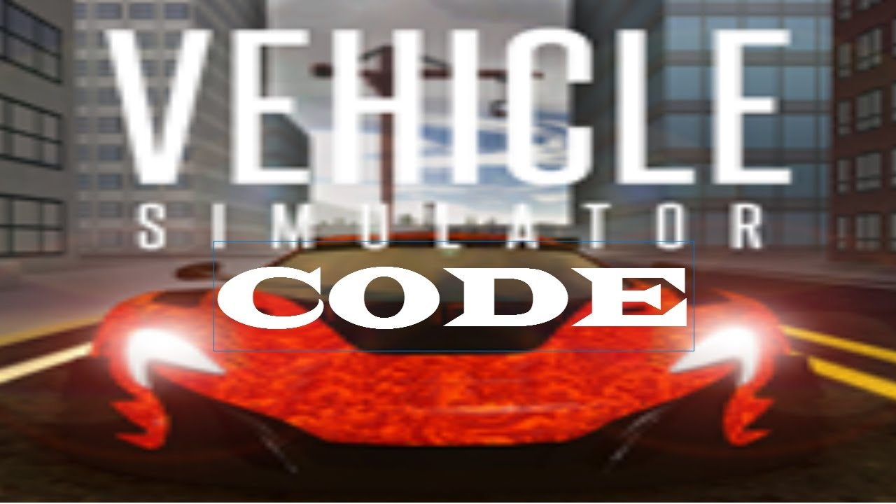 free codes for vehicle simulator roblox