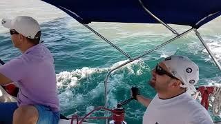 Обучение яхтингу в России - граница Мзымты и Моря в #простояхтшкола