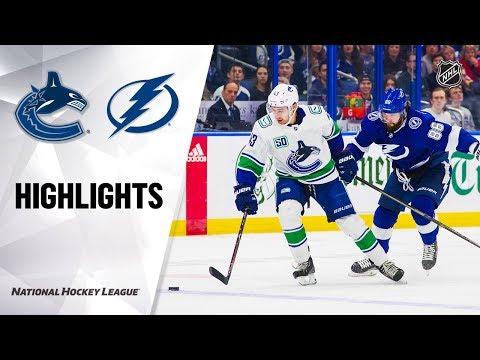 NHL Highlights | Canucks @ Lightning 1/7/20