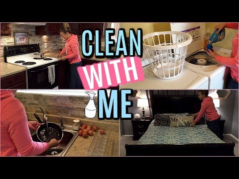CLEAN WITH ME | CLEANING and LAUNDRY AFTER VACATION | SPEED CLEANING | Hannah's Happy Home