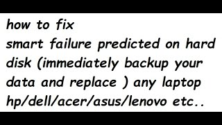 smart failure predicted on hard disk (immediately backup your data and replace )