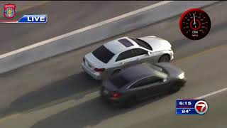 Police Chase Shots Fired Suspect Through Broward And Miami Dade - September 23, 2020