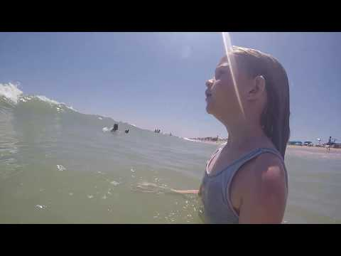 July 2019 - Bethany Beach, Delaware - Big Wave Knockdown - GoPro Hero 4