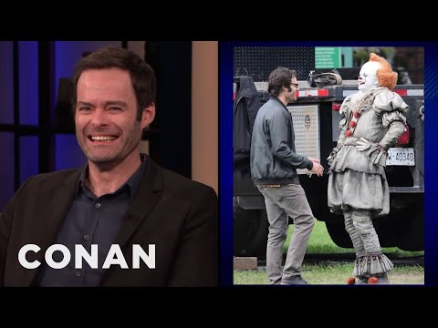 "Bill Hader Can't Stop Smiling On The Set Of ""It 2"""
