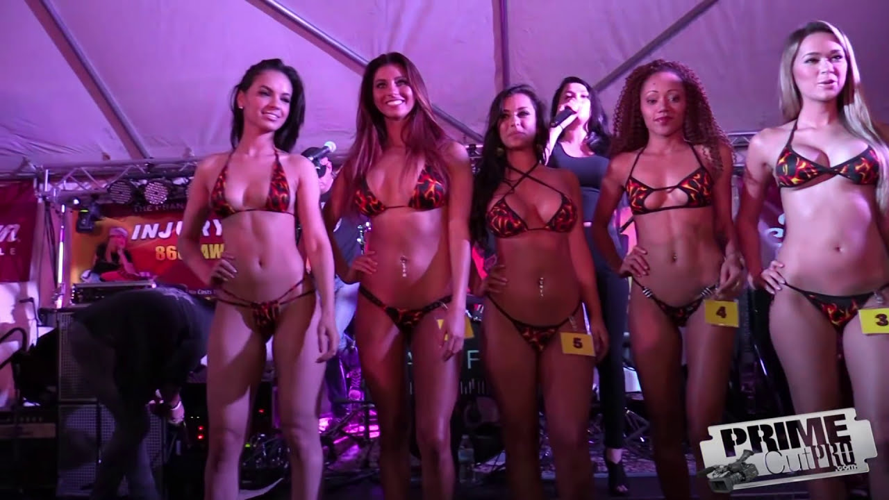 2016 BIke Week Bikini Contest - Fireball Models