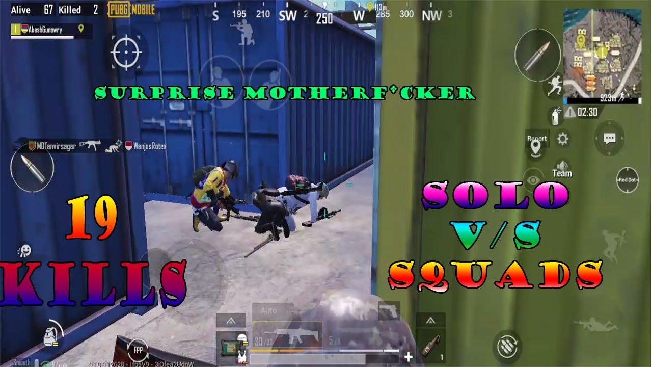 PUBG Mobile - SOLO vs SQUADS - 19 kills - 5 finger claw