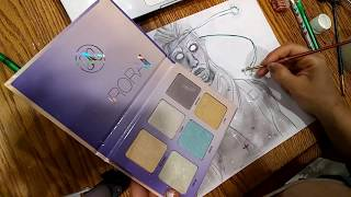 Using Makeup to Draw Galaxy Skin From Fortnite