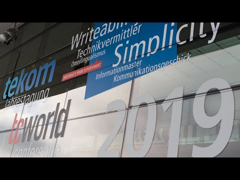 Impressions of tcworld conference 2019 in Stuttgart