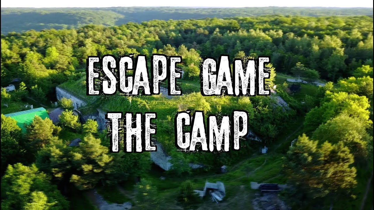 😱👀Escape Game: The Camp 💀😨 - Drone - GoPro