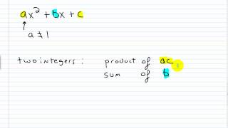 algebra i help factoring trinomials of the form ax 2 bx c part i