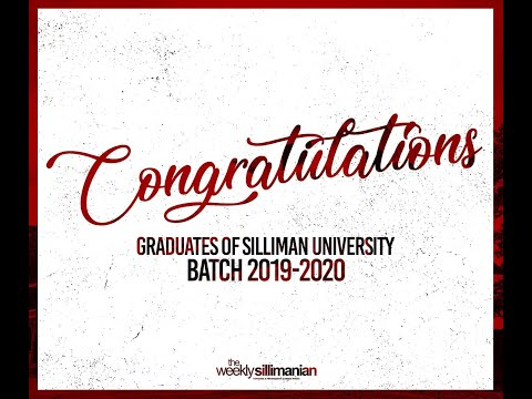 🎓 Batch 2019-2020 | Silliman University College Of Business Administration