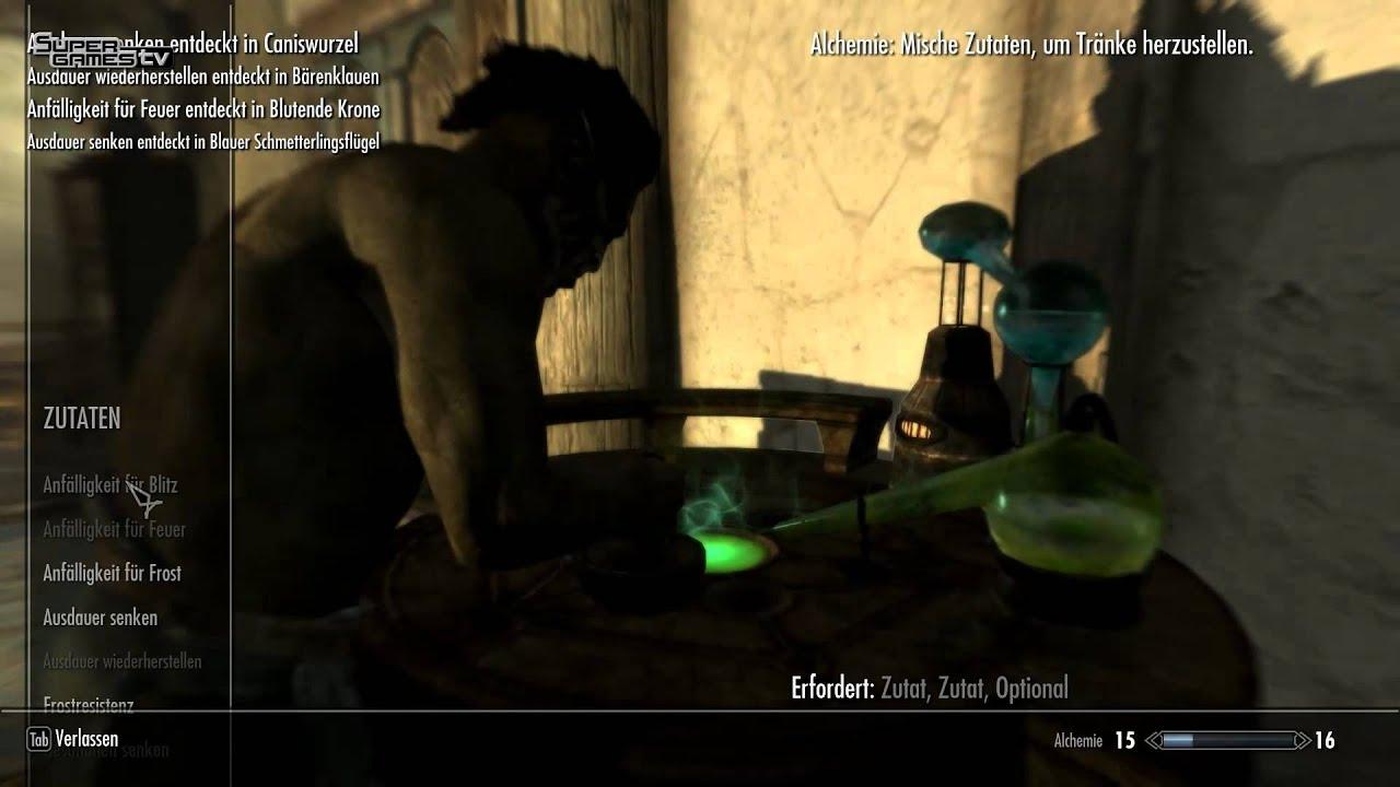 Alchimie - Barlows Skyrim Pro Guide Teil 1 (Deutsch) - YouTube