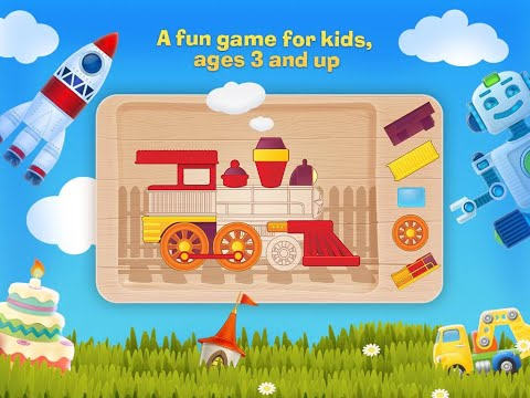 """Tim the Fox Puzzle Free """"Educational  Apps For Toddlers & Pre-schoolers""""Android Apps Video"""