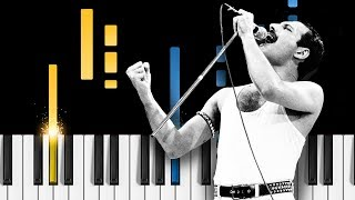 """How to play """"bohemian rhapsody"""" by queen (written freddie mercury) on piano! listen our piano cover and learn it yourse..."""