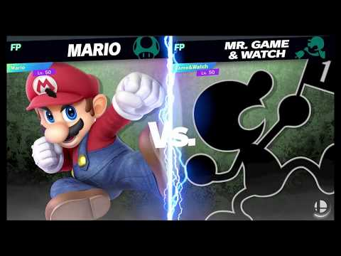 Super Smash Bros Ultimate Amiibo Fights Request #773 Mario vs Mr Game & Watch