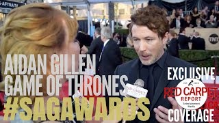 Aidan Gillen, Game of Thrones interviewed at 24th Screen Actors Guild Awards Red Carpet #SAGAwards