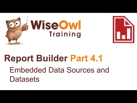 Report Builder 2016 Part 4.1 - Embedded Data Sources And Datasets