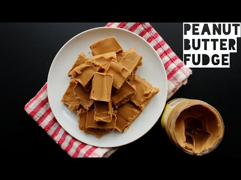 3 Ingredient Low Carb Peanut Butter Fudge Recipe | How To Make Healthy Fudge