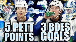 BOESER HAT TRICK & PETTERSSON 5 POINTS AGAIN (Vancouver Canucks DOMINATE St. Louis Blues 6-1) Horvat