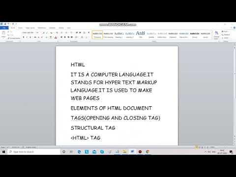 BASICS IN HTML