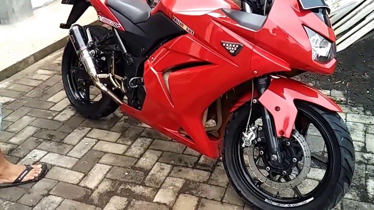 95 Modifikasi Motor Ninja 4 Tak Merah Sobat Modifikasi