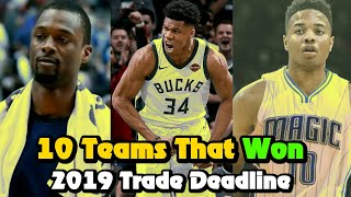 Here are the 10 biggest winners of the 2019 NBA trade deadline. Hope you enjoy!  I make all kinds of NBA videos which include trivia, analysis, player stories, countdowns, conspiracies, and mysteries. Make sure to leave a like and subscribe if you enjoyed this video!  ► Instagram: @Andy93y ► Twitter: @AndyHoopsYT  ► Music:  E L L A - Chill Hip Hop Beat https://www.youtube.com/watch?v=MFfncn6YPW0  Old School Hip Hop Instrumental Driver - Produced by Chuki  http://www.youtube.com/user/CHUKImusic  ► Sources: Stats and box-scores from Basketball-Reference.com and NBA.com  #nba #trade #deadline