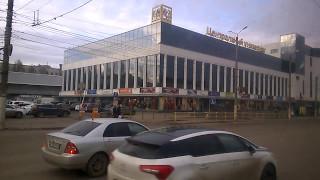 Город Киров из окна автобуса 21 автобусный маршрут 6 мая 2017 года Улица Воровского