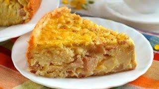 Яблучний пиріг в мультиварці / простий рецепт