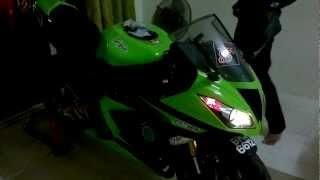 kawasaki ninja zx6r 636 2013 (malaysia) with m4 exhaust